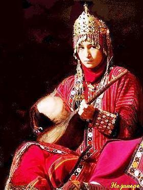 Dutarist Turkmen girl