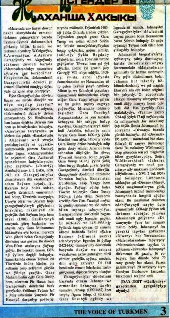 "Magazin ""The Voice of Turkmen"" Published in Turkmenistan"